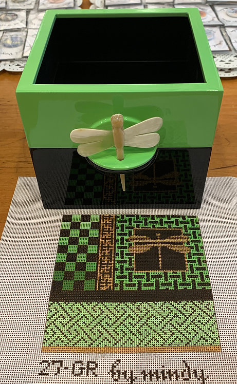Mindy Green Lacquer Box and Insert