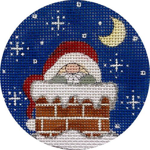 Santa in Chimney Alice Peterson X411
