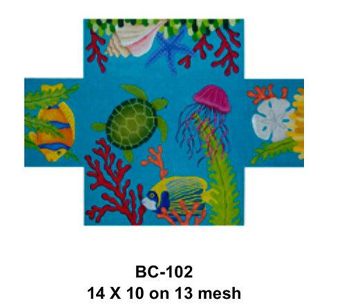 JP Needlepoint BC 102 Seascape Brick Cover