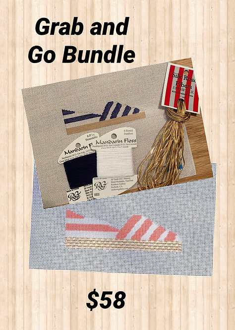 Grab and Go BLUE Espadrille Bundle