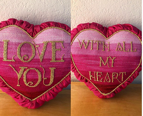 Oasis Di9 Love You with all my heart 2 sided pillow