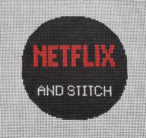 SilverStitch Needlepoint Netflix and Stitch