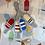 Thumbnail: Plum Stitchery JCB Stitches Buoys - White with Blue/White Stripe