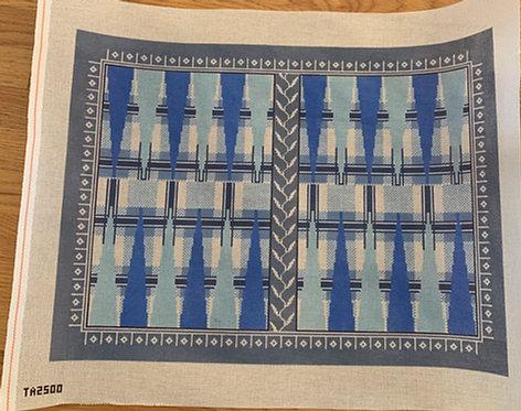 Thorn Alexander TA2500 Blue Tartan Backgammon