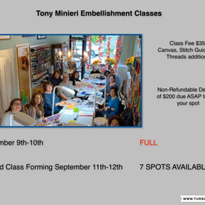 Second Tony Minieri Embellishment Class Dates!!!!