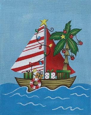 Diane Kater DKBH03 Candy Stripe Sailboat