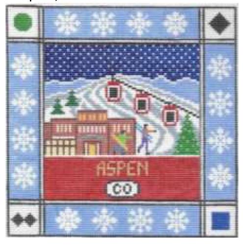 Doolittle Ski Squares 13 mesh Aspen