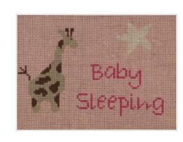 J Child Giraffe Baby Sleeping DHG 203 Pink Background