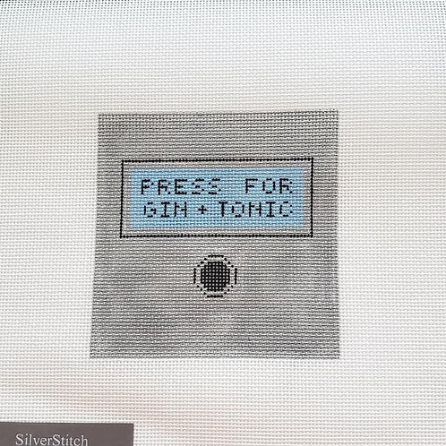 Silver Stitch Needlepoint Press for Gin and Tonic