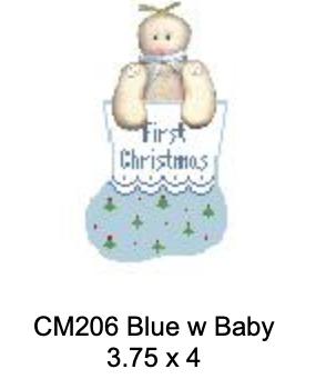Kathy Schenkel CM206 Blue with Baby Mini Sock