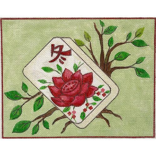 AP 4191 Flower Mahjongg Tile
