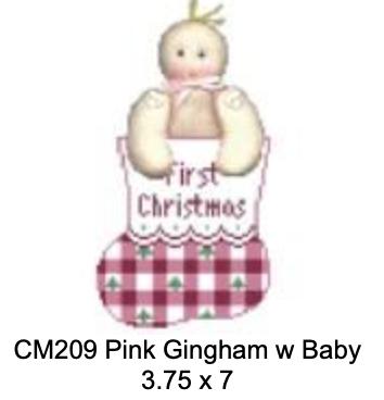 Kathy Schenkel CM209 Pink Gingham with Baby Mini Sock
