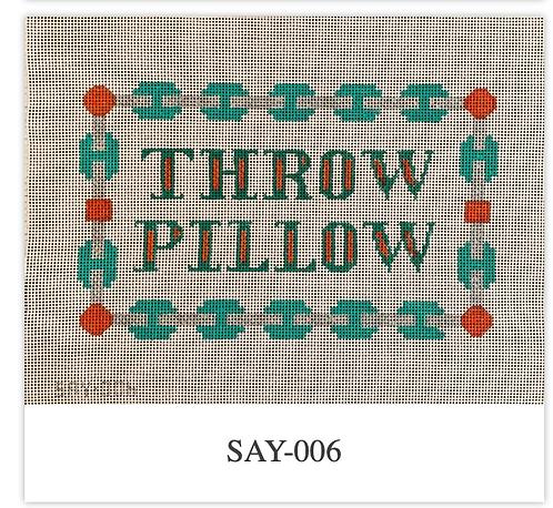 Patricia Sone 006 Throw Pillow 13 mesh