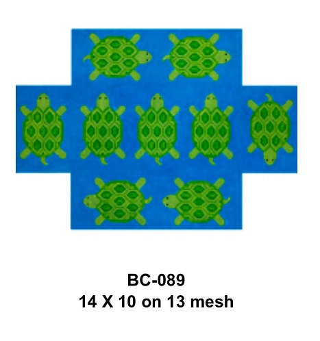 JP Needlepoint BC 089 Turtle Brick Cover