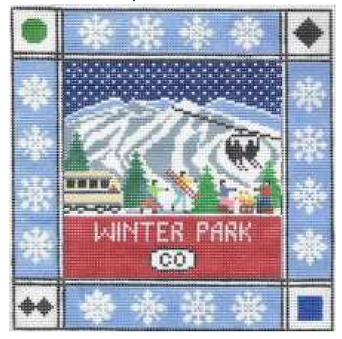 Doolittle Ski Squares 13 mesh Winter Park