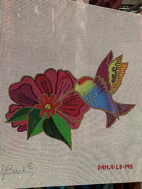 LB-145Hummingbird with Flower