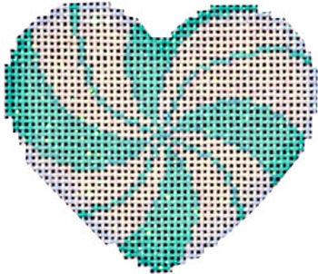 AT HE668A Peppermint Swirl Aqua Mini Heart