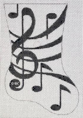 Raymond Crawford HO1996 Black Music Mini Sock