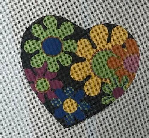 Julie Mar JM-KL-1969-7 Flower Power Heart