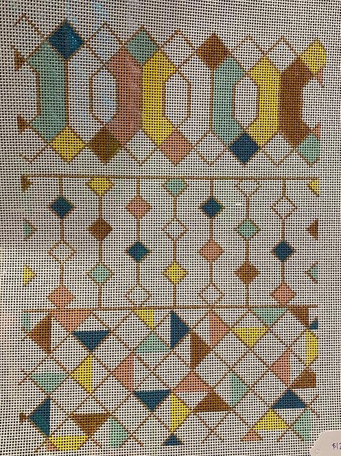 Plum Stitchery 13 mesh Geometric