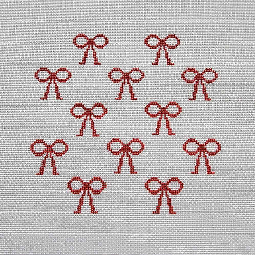 Silver Stitch Red Bows