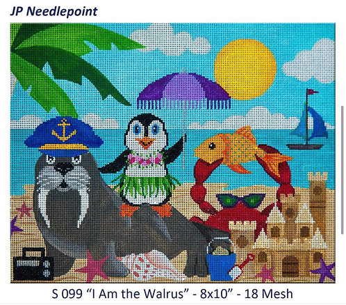 JP Needlepoint S 099 I Am the Walrus 18 mesh
