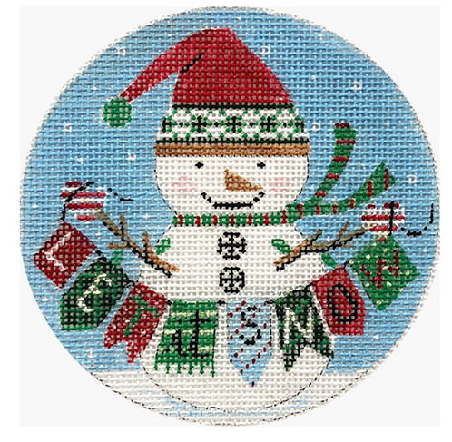 x350 Snowman with Sign Ornament