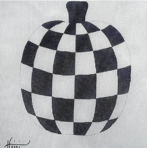 Heidi Black and White Checkered Pumpkin