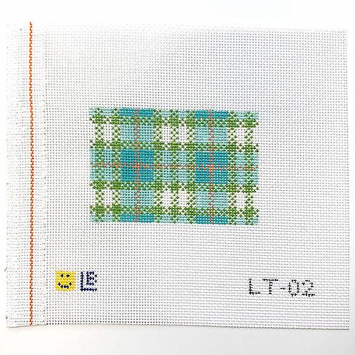 Lauren Bloch LT-02 Turquoise Plaid Luggage/Wallet Insert