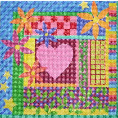 Marcy Covington Heart with Daisies MC2206