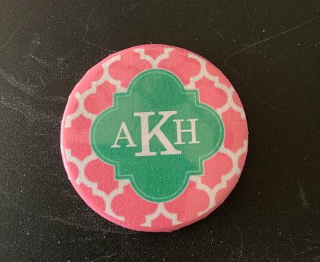Pink  Green Quatrefoil