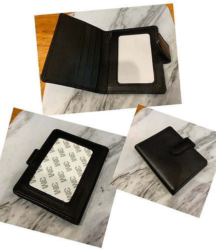 Black Snap Wallet (Takes 2x3 Insert)