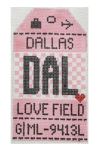 HedgeHog DAL Dallas Love Field Travel Tag