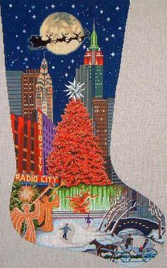 DJ Designs Radio City Stocking