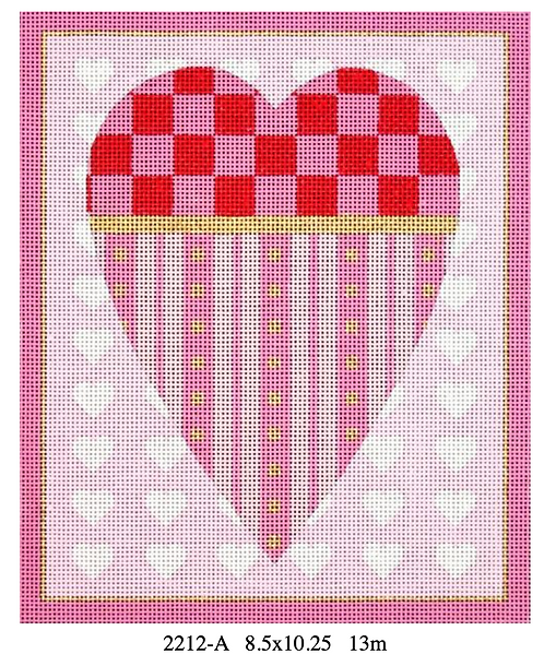 Melissa Shirley Large Heart - Checkerboard 13 mesh