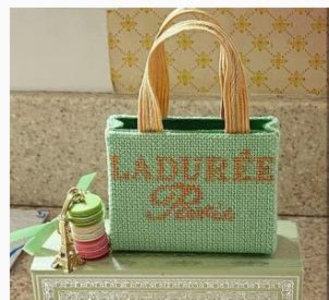 Poppy's Needlepoint Laduree Bag