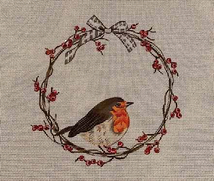 Sally Swannell SSMS03 Bird on Berry Wreath