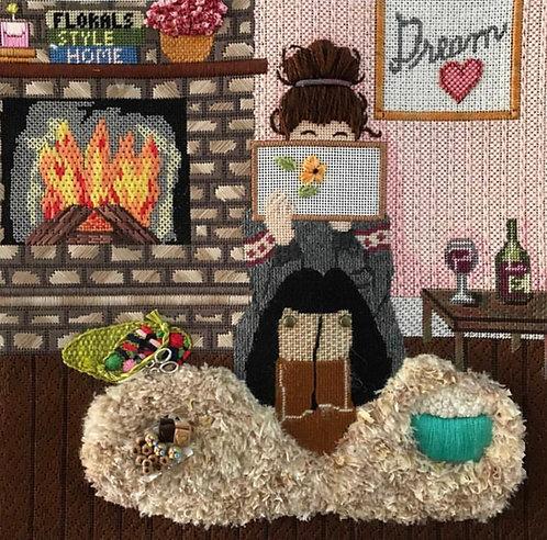 Gayla Elliott Stitching Girl Winter