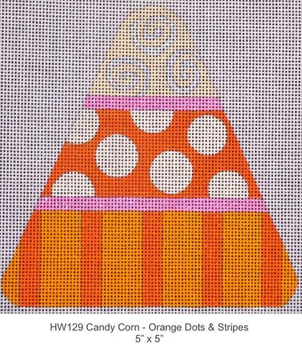 Eye Candy HW129 Candy Corn - Orange Dots & Stripes