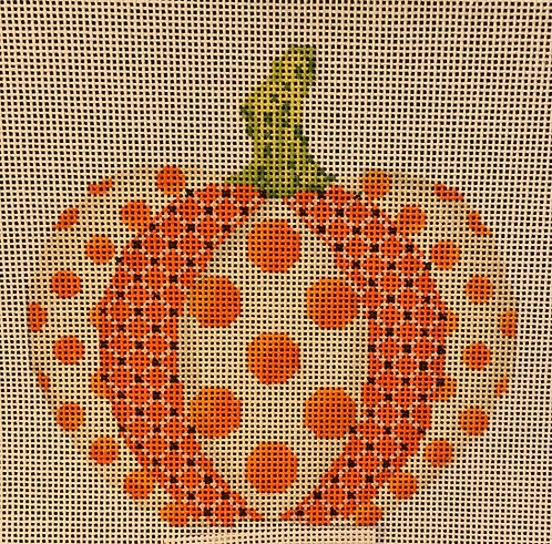 Polka Dot Patchwork Pumpkin
