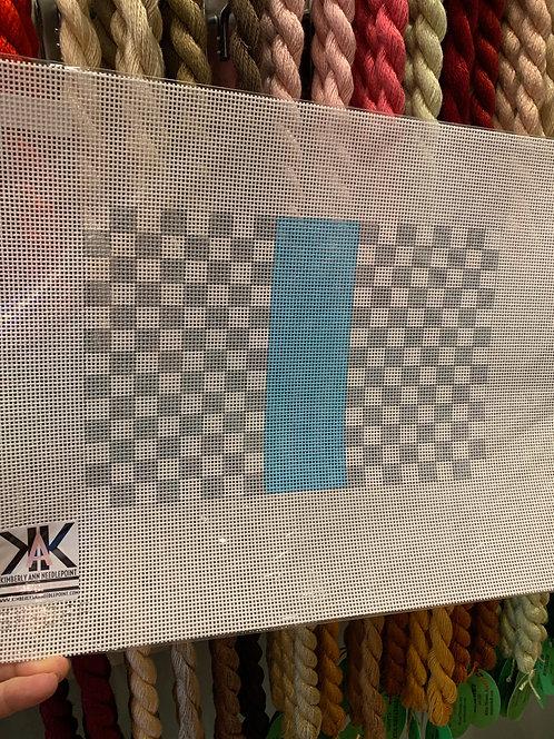 SF-06F Louis Grey/White with Blue Stripe 13 mesh