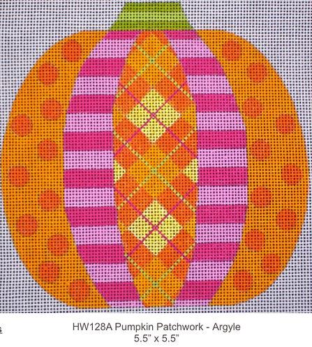 Eye Candy HW128A Pumpkin Patchwork Argyle