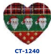 AT CT-1240 Plaid/Santas/Dots Heart