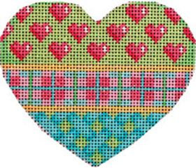 AT HE820 Hearts/Pink Plaid/Lattice Heart