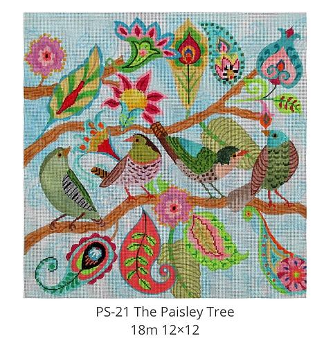 Tapestry Fair PS-21 Paisley Tree 18mesh