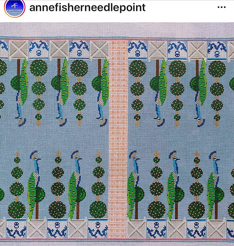 Anne Fisher Topiary and Peacock Backgammon