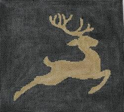 Kristine Kingston P106 Reindeer on Black