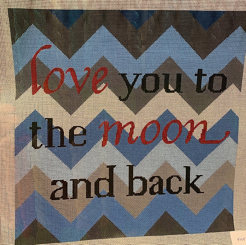 Colors of Praise Love you to the Moon and Back - Blue/Greys