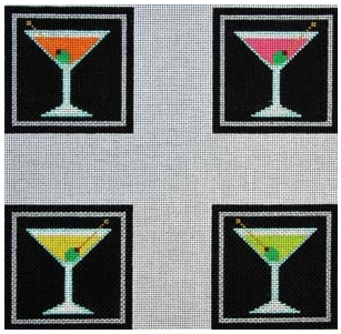 CO-37  Meredith Collection Martini Coasters