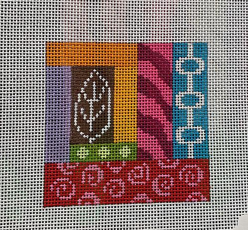 "Eye Candy G114 A Geometric 3"" Square 18 mesh"